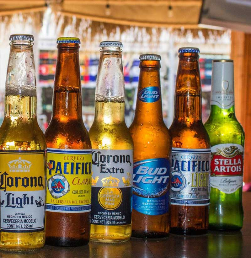 Beer selection at Cabo Cantina, Cabo San Lucas